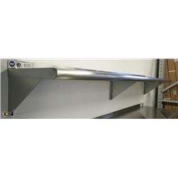 "12"" X 72"" STAINLESS STEEL WALL SHELF"