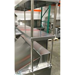 "48"" STAINLESS STEEL DOUBLE OVER SHELF"