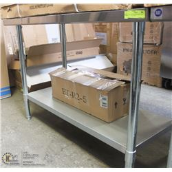 "NEW ICB STAINLESS STEEL TABLE 4'W X 24""D X 34""H"