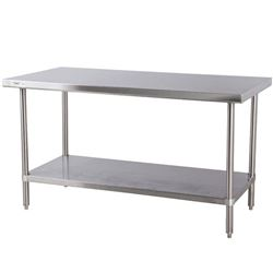 "NEW ICB STAINLESS STEEL TABLE 6'W X 24""D X 34""H"