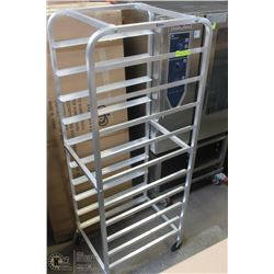ALUMINUM 10 PAN BUN OR TOTE RACK NEW