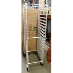 NEW ALUMINUM 20 PAN BUN RACK