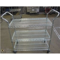 STAINLESS STEEL COMMERCIAL CHROME WIRE CART