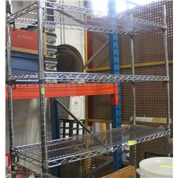 5-TIER COMMERCIAL CHROME WIRE RACK