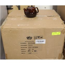 NEW TEAPOT 2 CUP - BROWN -LOT OF 48