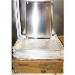CASE OF - 1/2 SIZE BUN PANS ALUMINUM