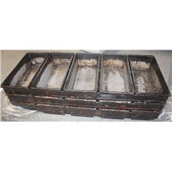 LOT OF THREE 5-BASKET STRAPPED BREADLOAF PANS
