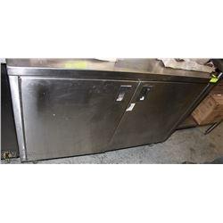 CUSTOM STAINLESS STEEL 2-DOOR PREP CABINET