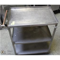 STAINLESS STEEL 3 TIER COMMERCIAL SERVICE CART