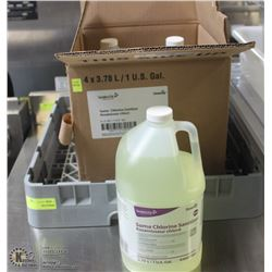 43 JUGS OF CLORINE SANITIZER AND COMMERCIAL