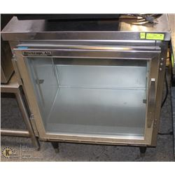 BEVERAGE AIR COUNTER GLASS DOOR FREEZER