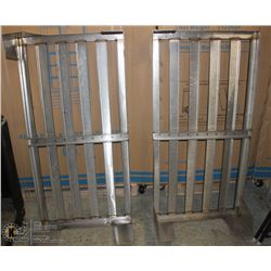 "GROUP OF TWO 48""X24""10"" SS DUNNAGE RACKS"