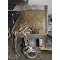 GLOBE STIMPSON SINGLE PHASE MEAT GRINDER, 200V,