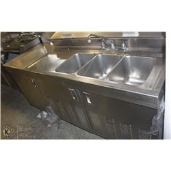 STAINLESS STEEL COMMERCIAL RINSING/WASHING PREP