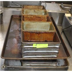LOT OF VARIOUS COMMERCIAL BAKING PANS