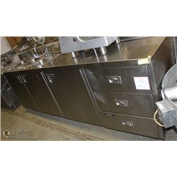 CUSTOM STAINLESS STEEL COMMERCIAL SINK CABINET
