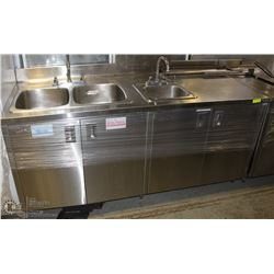 CUSTOM STAINLESS STEEL SINK CABINET ON CHOICE