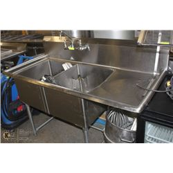 DOUBLE STAINLESS STEEL SINK WITH RIGHT SIDE DRYING