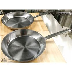 "12.5"" FRY PANS INDUCTION CAPABLE - LOT OF 2"