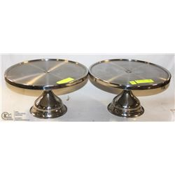 LOT OF 2 CHROME PIZZA STANDS