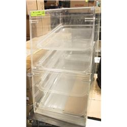 4 SHELF DOUBLE DOOR ACRYLIC BAKING DISPLAY