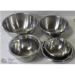 LOT OF ASSORTED STAINLESS STEEL MIXING BOWLS