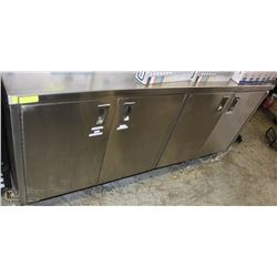 STAINLESS STEEL FOUR DOOR COMMERCIAL CABINET