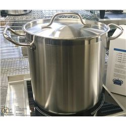 12QT STAINLESS STOCK POT, INDUCTION CAPABLE