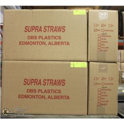 "7 CASES OF WHITE 6"" SUPRA STRAWS"