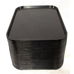 BLACK CAFE TRAYS - 35 APPROX.