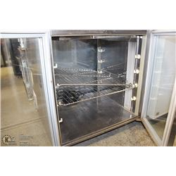 2 GLASS DOOR PASS THROUGH COUNTER TOP COOLER