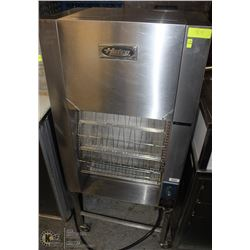 HATCO SS UPRIGHT CONVEYOR TOASTER ON WHEELS