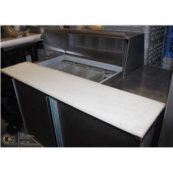 SILVERKING 4' REFRIGERATED PREP TABLE WITH INSERTS