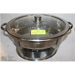OVAL CHAFING DISH COMPLETE WITH WATER PAN
