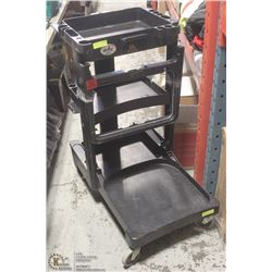 COMMERCIAL CLEANING CART-NO BAGS