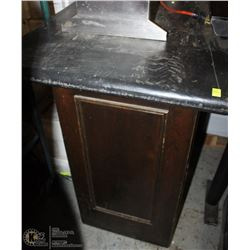LARGE BLACK  WOOD BAR TABLE