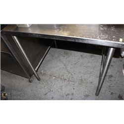 OPEN BOTTOM S/S COMMERCIAL PREP TABLE