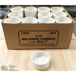 MELAMINE 4OZ RAMEKIN - LOT OF 48