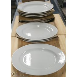 "13"" OVAL PLATTERS - LOT OF 12"