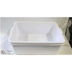 "TOTE BOXES - LOT OF 2 - WHITE  7"" DEEP"