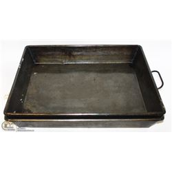 "TWO JR 20""X16"" COMMERCIAL STRAPPED ROASTING PANS"
