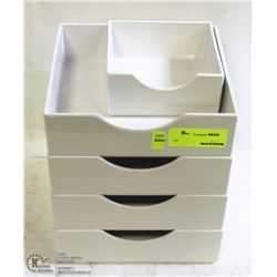 LOT OF FIVE ASSORTED MELAMINE TRAYS