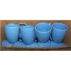 LOT OF BLUE COFFEE CUPS