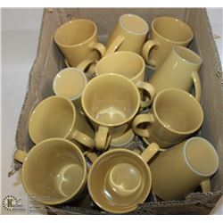 LOT OF YELLOW COFFEE CUPS
