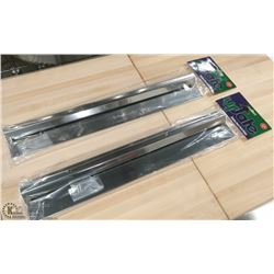 """18"""" STAINLESS STEEL ORDER RAILS - LOT OF 2"""