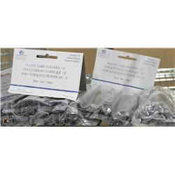 PLASTIC LABEL HOLDERS FOR WIRE SHELVING (6 BAGS)