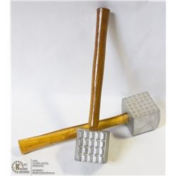2 NEW ALUMINUM MEAT MALLETS