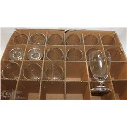 16 CLEAR 8OZ ELEMENTAL RED WINE GLASSES
