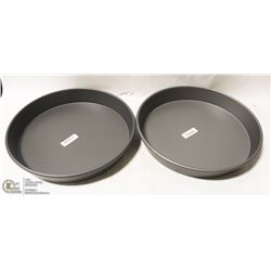LOT OF TWO NEW ROUND DEEP DISH BAKING PANS