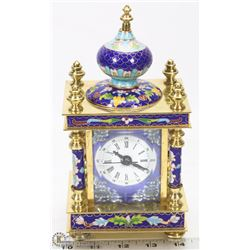 RUSSIAN CLOISSONE TABLE CLOCK.